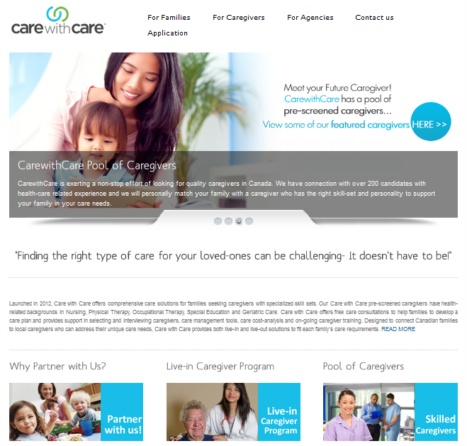 Care with Care Canada Website Development